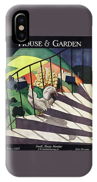 A House And Garden Cover Of A Rooster IPhone Case