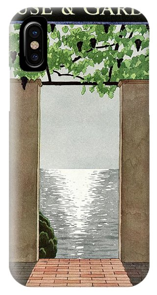 A House And Garden Cover Of A Seaside Patio IPhone Case