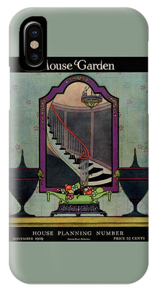 Magazine Cover iPhone Case - A House And Garden Cover Of A Staircase by Harry Richardson