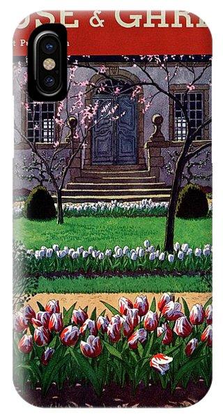 A House And Garden Cover Of A Tulip Garden IPhone Case