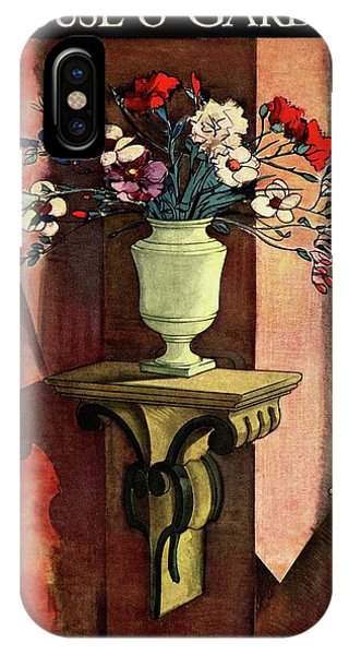 A House And Garden Cover Of A Vase Of Flowers IPhone Case