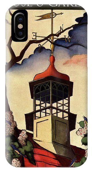 A House And Garden Cover Of A Weathervane IPhone Case