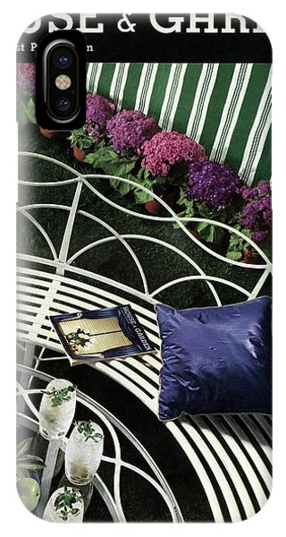 A House And Garden Cover Of A White Bench IPhone Case