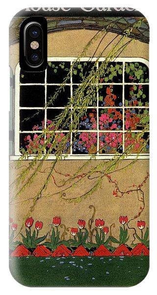 A House And Garden Cover Of A Window IPhone Case