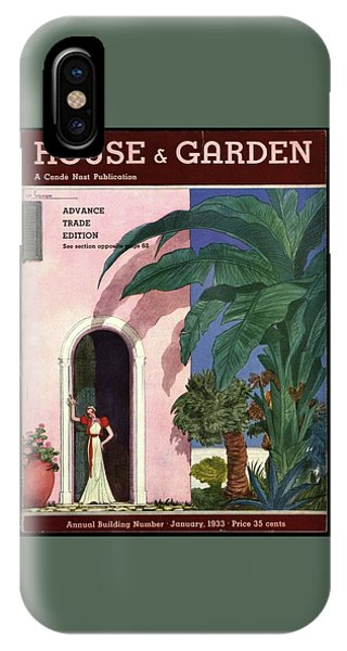 A House And Garden Cover Of A Woman In A Doorway IPhone Case