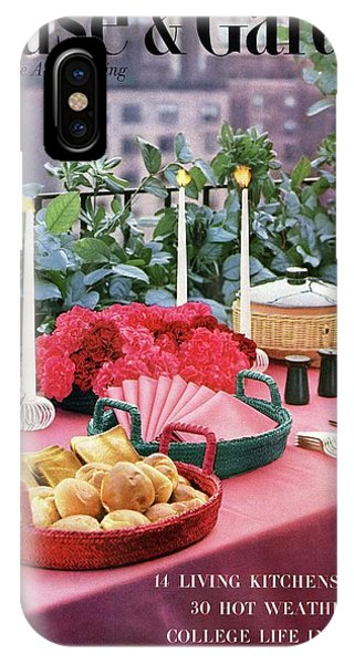 A House And Garden Cover Of Al Fresco Dining IPhone Case