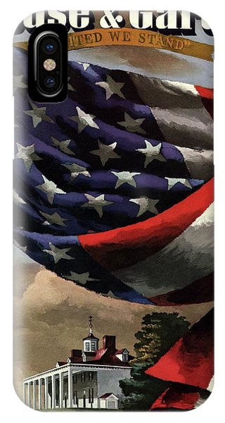A House And Garden Cover Of An American Flag IPhone Case