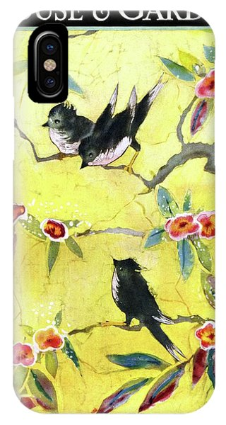 A House And Garden Cover Of Chickadees IPhone Case