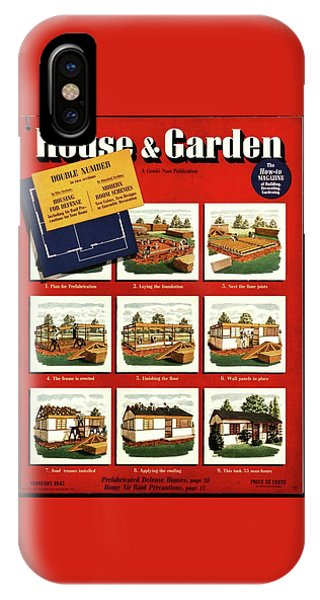 A House And Garden Cover Of Construction Stages IPhone Case