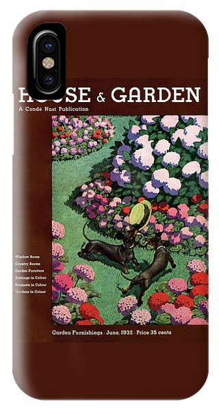 Magazine Cover iPhone Case - A House And Garden Cover Of Dachshunds With A Hat by Pierre Brissaud