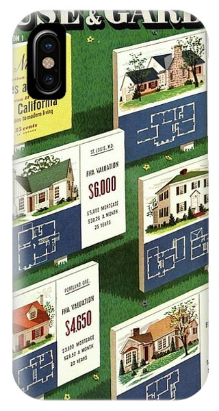 A House And Garden Cover Of Floorplans IPhone Case