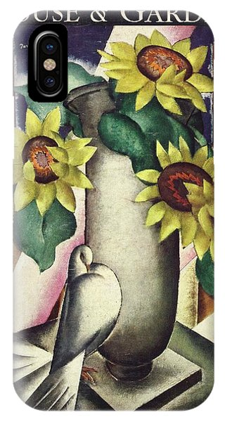 A House And Garden Cover Of Flowers And A Dove IPhone Case