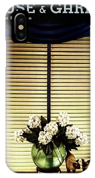 A House And Garden Cover Of Flowers By A Window IPhone Case