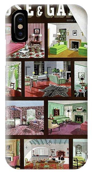 A House And Garden Cover Of Interior Design IPhone Case