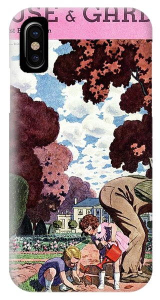A House And Garden Cover Of People Gardening IPhone Case