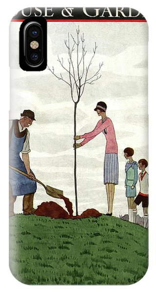 A House And Garden Cover Of People Planting IPhone Case