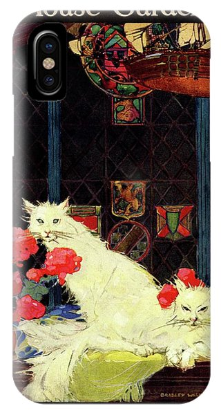 A House And Garden Cover Of White Cats IPhone Case
