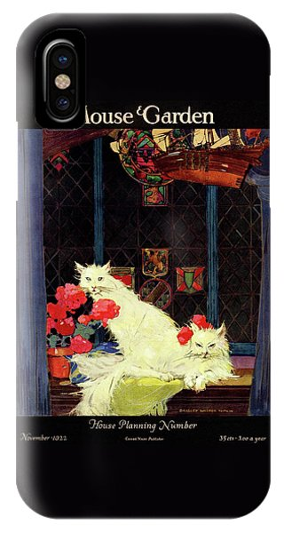 Magazine Cover iPhone Case - A House And Garden Cover Of White Cats by Bradley Walker Tomlin