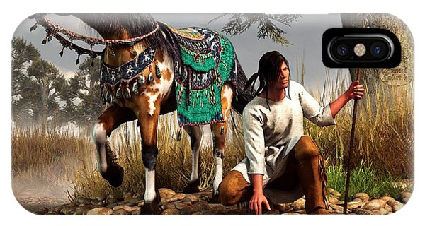 A Hunter And His Horse IPhone Case