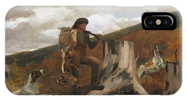 iPhone Case - A Huntsman And Dogs by Winslow Homer