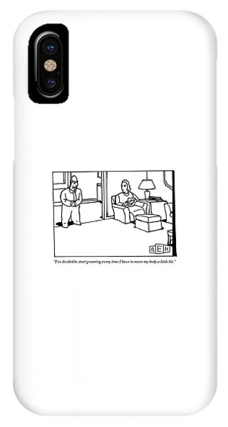 A Husband Says To His Wife In Their Livingroom IPhone Case