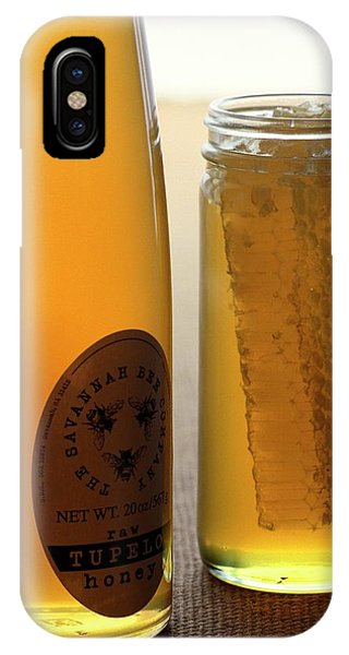 A Jar And Bottle Of Honey IPhone Case
