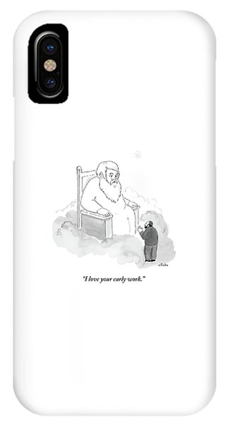 A Jew Talks To God On His Throne In Heaven IPhone Case