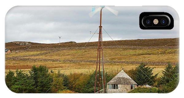 A Kestrel Wind Turbine In Scoraig IPhone Case