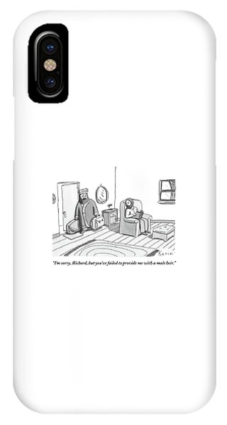 A King Carrying Luggage Walks Out On Another Man IPhone Case