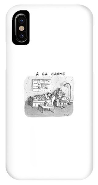 A La Carte -- Therapy Where A Placard Lists IPhone Case