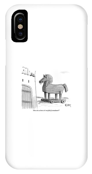 A Large Wooden Horse IPhone Case