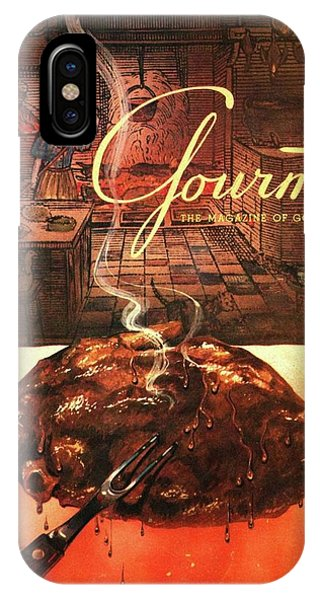 A Leg Of Lamb On A Spit Beneath An Etching IPhone Case