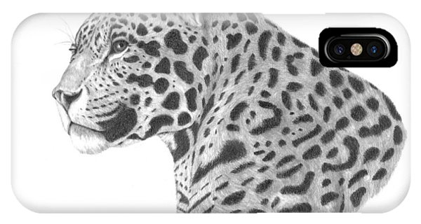A Leopard's Watchful Eye IPhone Case