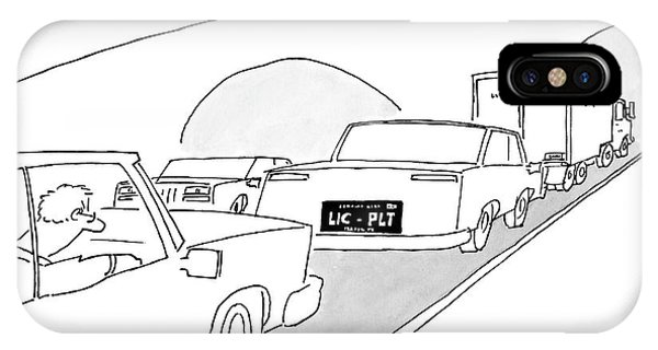 Highway iPhone Case - A License Plate That Reads  Lic-plt by Jack Ziegler