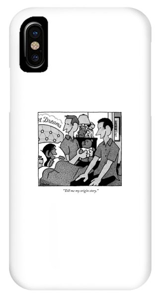 A Little Girl In Bed Speaks Delightedly IPhone Case