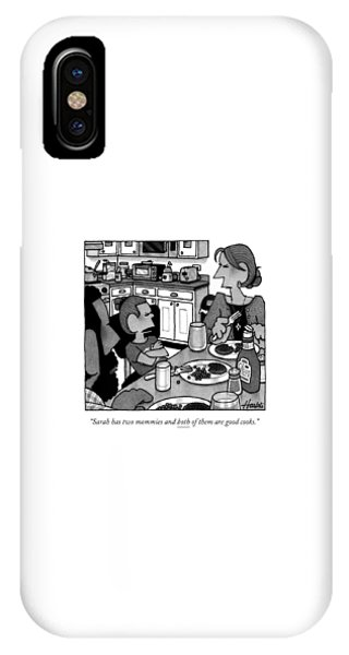 A Little Girl Pouts While Eating Dinner IPhone Case