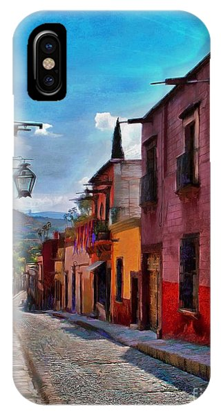 A Little Street In San Miguel IPhone Case