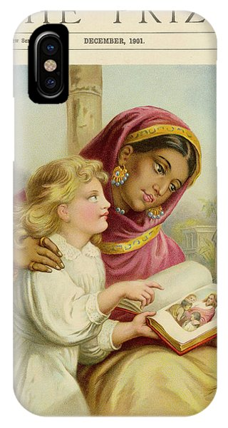 A Little White Girl Teaches An  Asian Phone Case by Mary Evans Picture Library