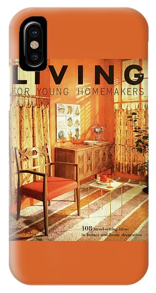 A Living Room With Furniture By Mt Airy Chair IPhone Case
