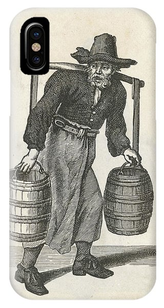 A London Water Carrier With Two Barrels Phone Case by Mary Evans Picture Library