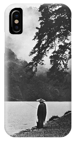 A Lone Japanese Fisherman IPhone Case