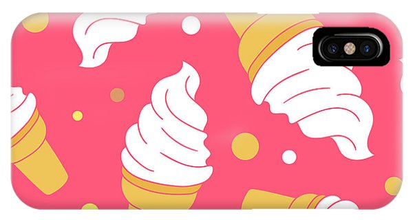 Freeze iPhone Case - A Lot Of Ice Cream Hand Drawn by Talirina