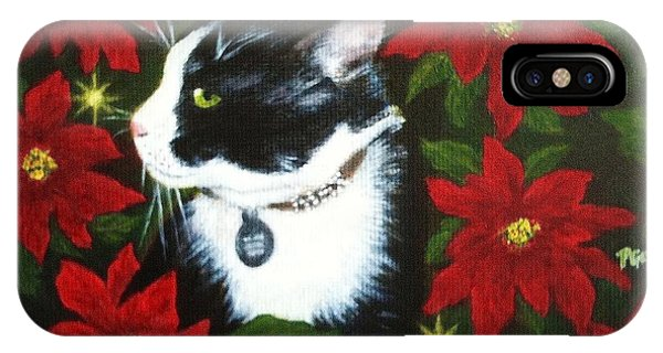 Tuxedo Cat Trouble  IPhone Case