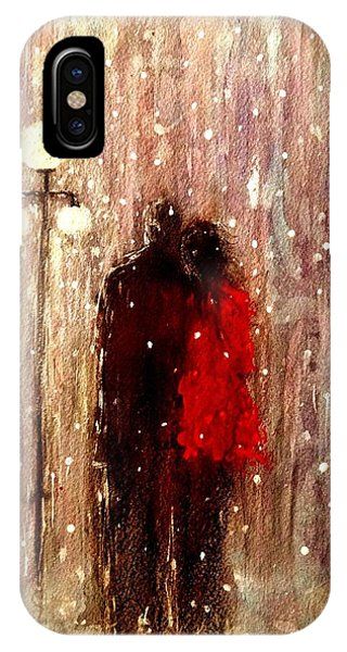 Me You And A Magical Winter Night.. IPhone Case