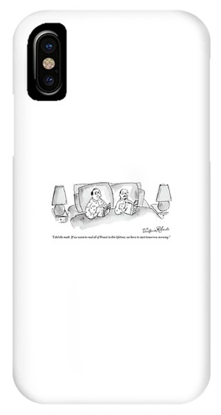 A Male Couple Wearing Matching Pajamas Read IPhone Case