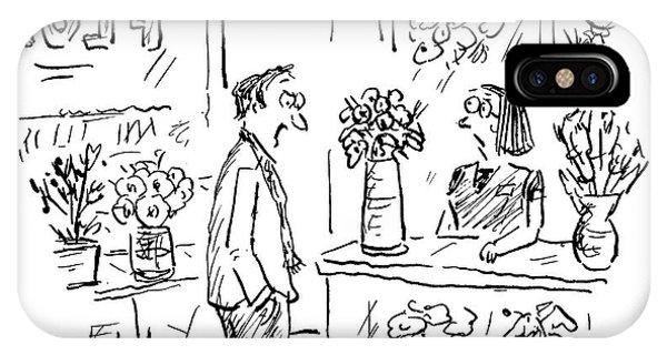 A Man Addressing A Florist IPhone Case
