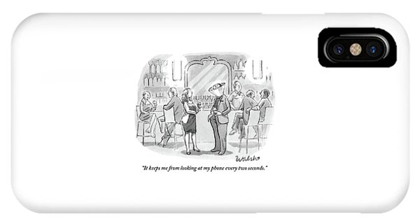 A Man And Woman Talk At The Bar IPhone Case
