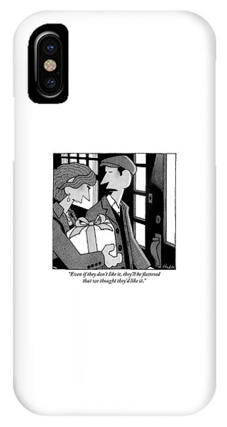 A Man And Woman Walk Up To The Door Of A House IPhone Case