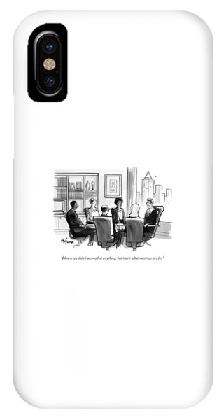 A Man Announces At A Business Conference Meeting IPhone Case