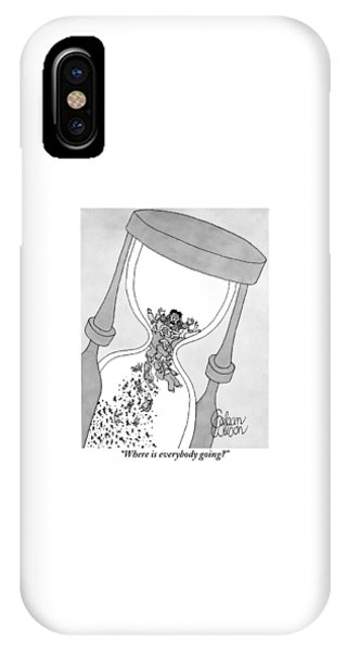 A Man Cries Out From Within A Giant Hourglass IPhone Case